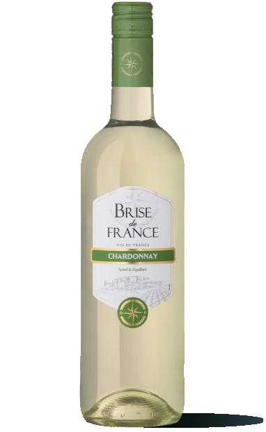 bouteille de vin blanc chardonnay brise de france