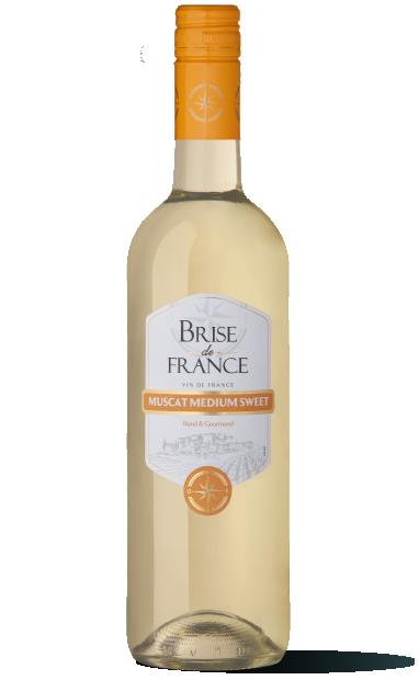 bouteille de vin muscat brise de france