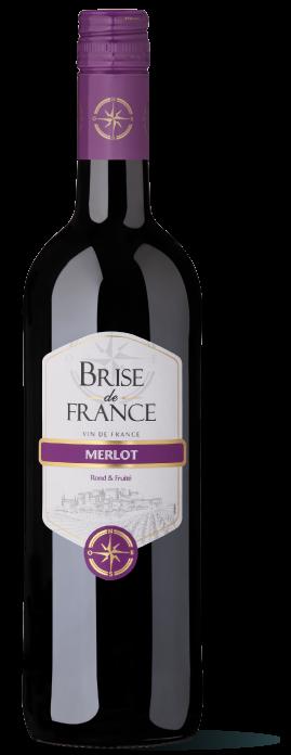 bouteille de vin merlot Brise de France